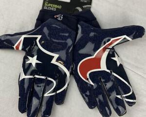 Nike Men's Superbad Houston Texans Gloves Sz. 3XL NEW CK2449-466 MAGNIGRIP.