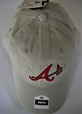 ATLANTA BRAVES UNISEX ADULT ADJUSTABLE LOW-PROFILE CAP HAT WITH A/TOMAHAWK LOGO