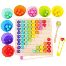 Spielzeug Kinder pädagogisches Holzpuzzle Regenbogen Clip Perlen Fokus Bret