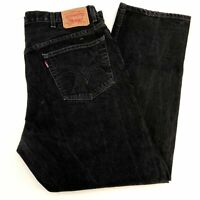 Levi's 505 Denim Jeans Mens 42X30 Regular Fit Straight Leg Cotton Dark Washed