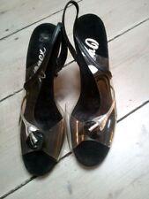 Chaussures vintage vintage véritable noir pour femme