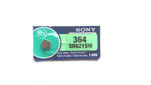 1x SONY / muRata 364, SR621SW 1.55V Silver Oxide EXPIRY 02/2023 JAPAN MADE