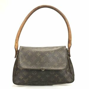 100% authentic Louis Vuitton mini looping M51147 handbag used 6-4-a@1c