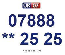 07888 ** 25 25 - Gold Easy Memorable Business Platinum VIP UK Mobile Numbers