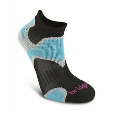 Bridgedale Coolfusion Run Speed Diva Womens Blue Black Running Trainer Socks M