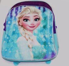 "School Backpapck 13""W x 17""H x 8""D Disney Frozen Elsa Snowflakes"