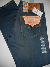 NWT 501 Levis Classic 32 x 30 Red Tab Button Fly Straight Sanded Blue Jeans