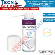 Bomboletta Aria Compressa Spray 400ml Per Pulizia PC Computer Tastiera Tecnoware