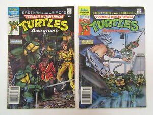 Teenage Mutant Ninja Turtles Adventures #1 & 2 Archie 1988 Newsstand Variant