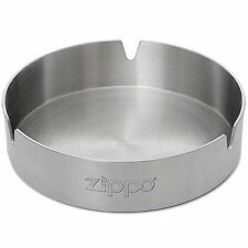 "Zippo ""Stainless Steel Ashtray"", Zippo Logo, Chrome Color, 121512"