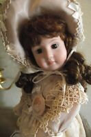NEW ANTIQUE REPRODUCTION 18 in FULL BALL JOINTED BODY PORCELAIN VICTORIAN DOLL