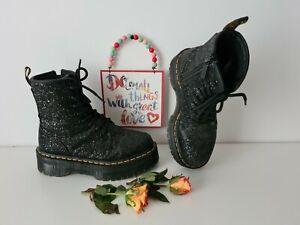 Dr Doc martens Jadon glitter black chunky sole platform boots UK 5 EU 38 US 7