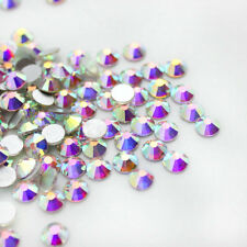 RUOSHAN  2mm Shiny 1440pcs AB Rhinestone Crystal DIY Nail Art Brooch Bag SS6