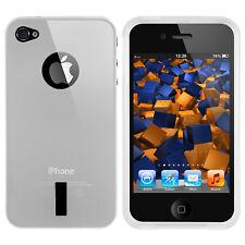 mumbi Hülle für Apple iPhone 4/4s Schutzhülle Case Tasche Cover transparent weiß