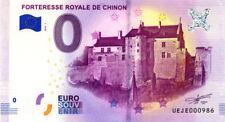 37 CHINON Forteresse royale, N° de la 7ème liasse, 2018, Billet 0 € Souvenir