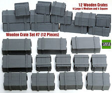 1/35 Universal Wooden Crates #7 - Value Gear Details - 12pcs Resin Stowage