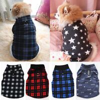 Small Pet Dog Warm Fleece Vest Clothes Coat Puppy T-Shirt Sweater Winter Apparel