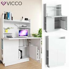 Vicco Alena 85x118,9x27cm Bureau d'Armoire - Blanc Mat