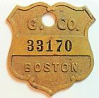 GILCHRIST  CO.    Boston  #  TYL # MA-115-GILA Charge credit Coin