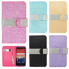 For HTC Desire 626 Premium Bling Diamond Wallet Case Pouch Cover Accessory