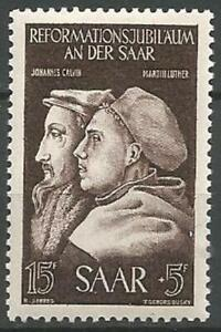 Germany Saar 1951 MNH 375th Anniv Reformation Calvin and Luther  Mi-308 SG-305