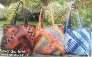 "2x Quilt Kit/Fabric  Alexandra Tote Bag (15"" x 14"" x 4"")/Blue Binding Tape-DN16"