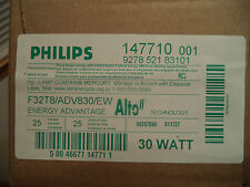 CASE OF 25 PHILIPS F32T8 ADV830 EW ALTO 30W ENERGY ADV