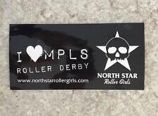 Nos Unused North Star Roller Girls Sticker Minneapolis Mn Roller Derby