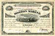 1898 Boston Marine Insurance Stock Certificate