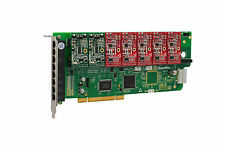 OpenVox A800P25 8 Port Analog PCI Base Card + 2 FXS + 5 FXO, Ethernet (RJ45)