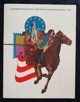 1975 US Mint Year Set in Original USPS Album - 28 Commemorative Stamps MNH Lot