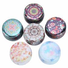 6Pcs_Vintage Tin Jars Coffee Tea Spice Candy Jewelry Storage Case Candle Box HQ