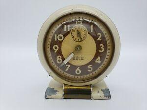 Vintage Westclox Baby Ben 61-R Mechanical Wind Up Alarm Clock-Works