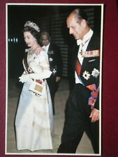 POSTCARD RP ROYALTY THE QUEEN & PRINCE PHILLIP IN JAPAN MAY 1975