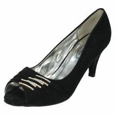 Escarpins à bout ouvert noirs pour femme