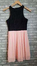 NWOT Women's Socialite Razorback Lace Pleated Mini Lined Dress XS-#1