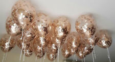 "Rose Gold Balloon Confetti round 11"" clear wedding bride engaged ceiling"
