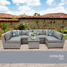 Catalina 7 Piece Outdoor Wicker Patio Furniture Set 07c