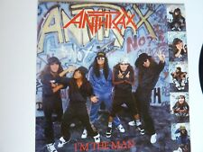 """ANTHRAX I'M THE MAN 12"""" SINGLE IN EXCELLENT CONDITION"""