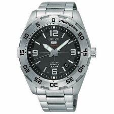 Seiko 5 Sports Automatic Black Dial Silver Steel Men's Watch SRPB79K1 RRP £250