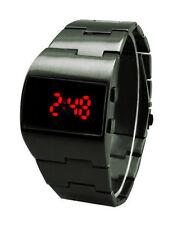 Vintage Styling Red LED Gunmetal Digital Fat Chunky Asymmetric Steel Watch