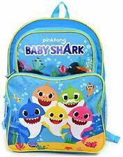 """5 Baby Shark 16"""" Large 2 Pocket Backpack"""