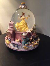 Rare Disney Store Beauty and the Beast Musical Snow Globe Belle