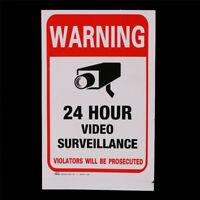 5pcs 24H CCTV Video Camera System Security Warning Sign Sticker JH