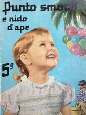Vintage 50s Punto Smock Magazine Sewing Embroidery Smocking Patterns Italian