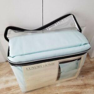 LUXURY HOME 6 Piece Sky Blue Super Soft 1600 Series King Microfiber Bed Sheet