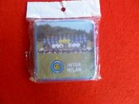SET OF 4 TIN CORK INTER MILAN  DRINK COASTERS FOOTBALL SOCCER