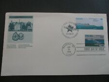 Canada - Usa 1984 Joint Issue Fdc - St Lawrence Seaway Issue - Unaddressed