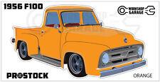 Ford F100 - 1955 - 1956 - Sticker Orange