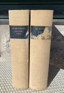 Settimana INCOM Anno 1955 - 52 uscite settimanali rilegate in 2 Volumi